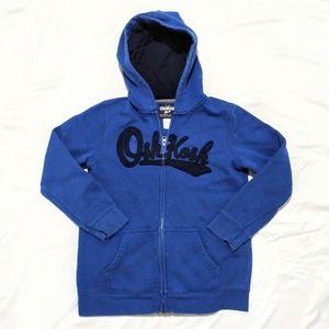 Oshkosh Boys Full Zip Logo Hoodie Blue Sz 10/12